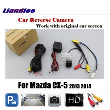 цена на Liandlee Car Rearview  Reversing Parking Camera For Mazda CX-5 CX 5 CX5 2013 2014 Display / Rear View Backup Back Camera