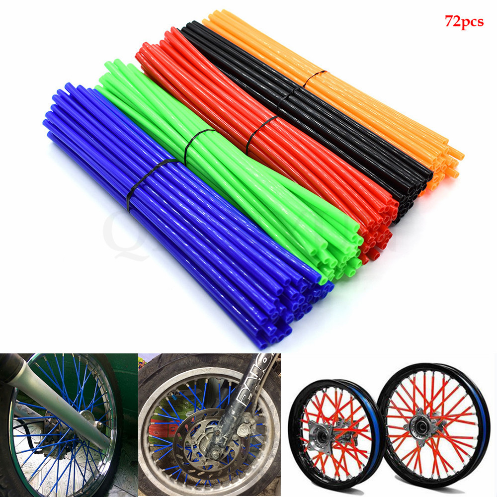 Motorcycle Spoke Skins Wheel Rim Wrap Tubes Cover For <font><b>yamaha</b></font> xt1200ze 12-15 fjr1300 xjr1300 fjr <font><b>xjr</b></font> <font><b>1300</b></font> 04-15 image