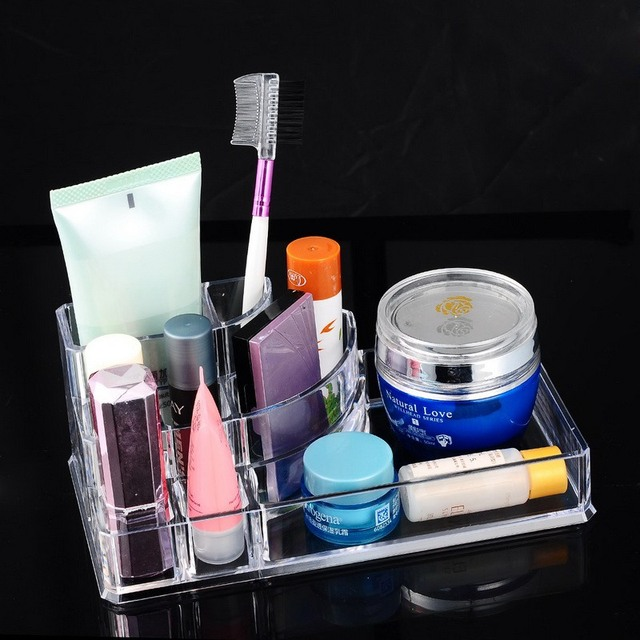 Creative Transparent Plastic Acrylic Makeup Cosmetic Display Rack