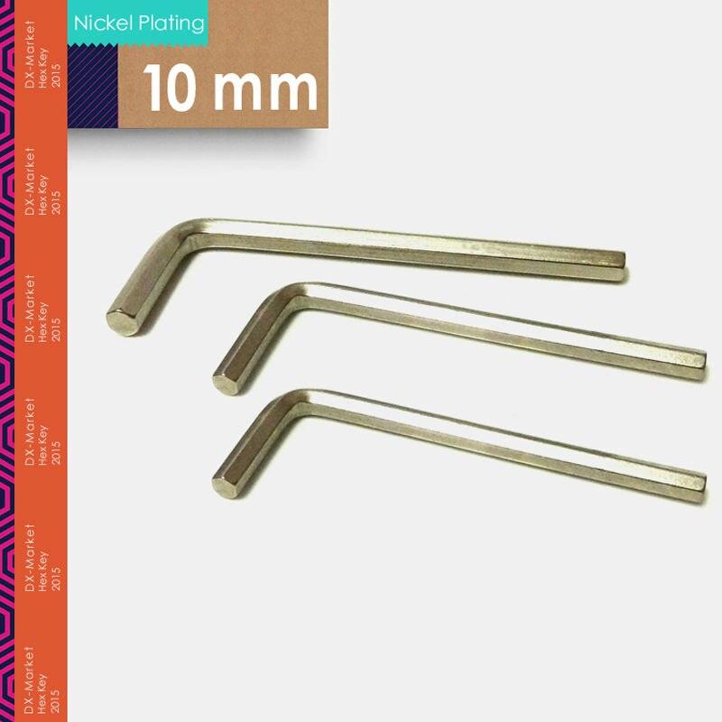 10 мм, 2 шт./лот, шестигранный ключ, 10 мм шестигранный ключ инструменты сплава стали, m10 покрытие никелем DIY ключ, высокой твердости инструмента