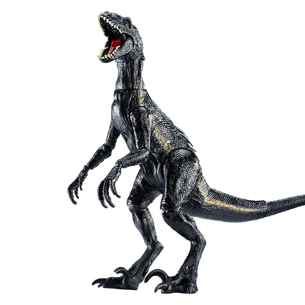 Mundo jurássico Parque 2 39 CM Indoraptor Dinossauros Brinquedo Fazer Rugido Modelo Figuras de Ação Brinquedos Clássicos Para O Menino Animais