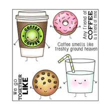 ZhuoAng Delicious Cookies and coffee Clear Stamps For DIY Scrapbooking/Card Making/Album Decorative Silicon Stamp Crafts