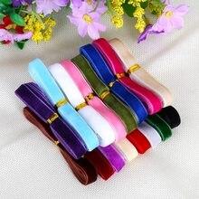 12 quintal 10mm veludo fita guarnição costura tecido webbing bandana clipes arco artesanato decoração diy laço de cabelo fita