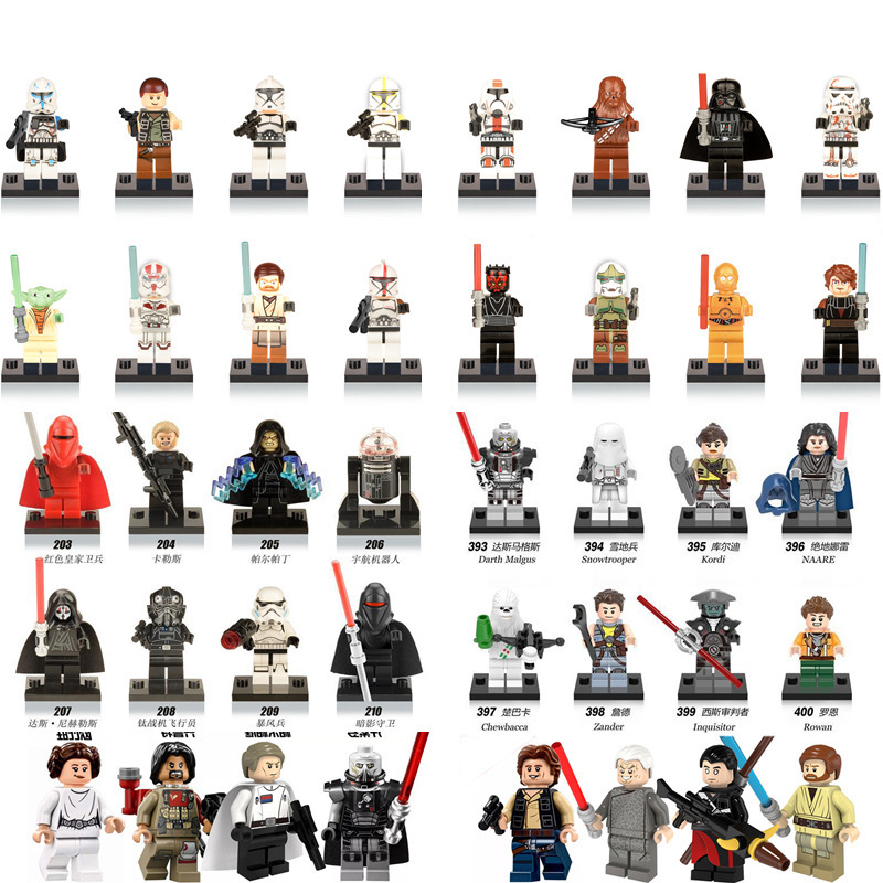 1pcs Single Sale Star Wars Force Awakens Building Blocks Figures Compatible with LegoINGlys Starwars Kids Action Toys