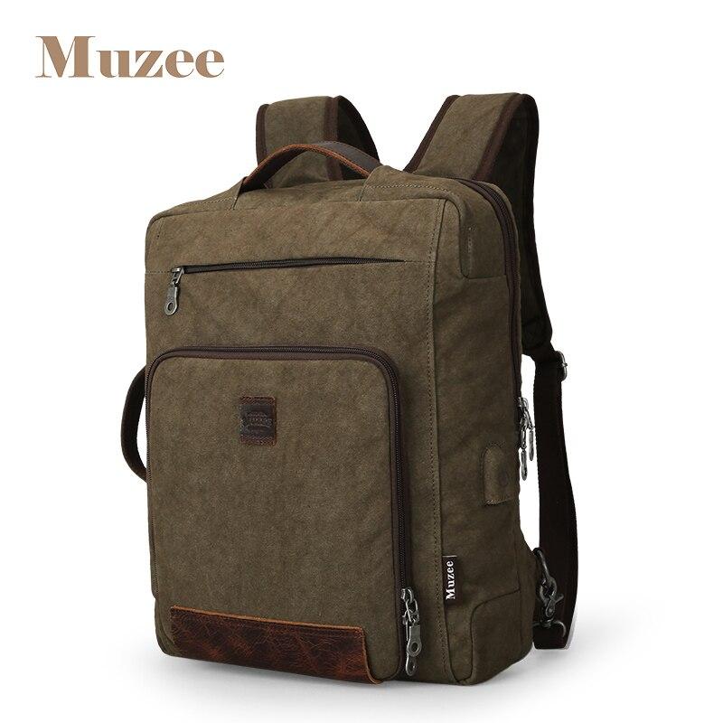 Muzee hommes sac à dos USB charge Anti-vol sac à dos hommes voyage sac à dos sac d'école mode hommes sac à dos mâle Mochila