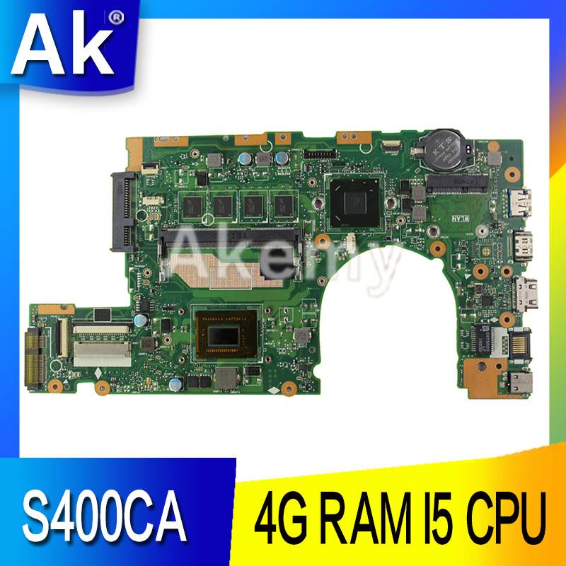 AK S400CA Laptop <font><b>motherboard</b></font> for <font><b>ASUS</b></font> S400CA S500CA <font><b>S400C</b></font> S500C S400 S500 Test original mainboard 4G RAM I5 CPU image