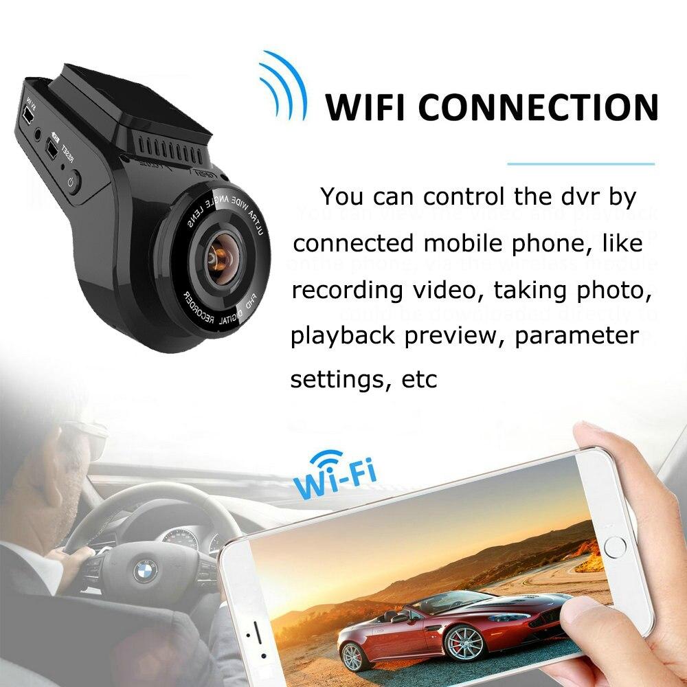 Carro traço cam 2160 p 4 k ultra hd com 1080 p câmera traseira wifi gps logger adas dupla lente dashcam carro dvr visão noturna + 32g cartão sd - 4