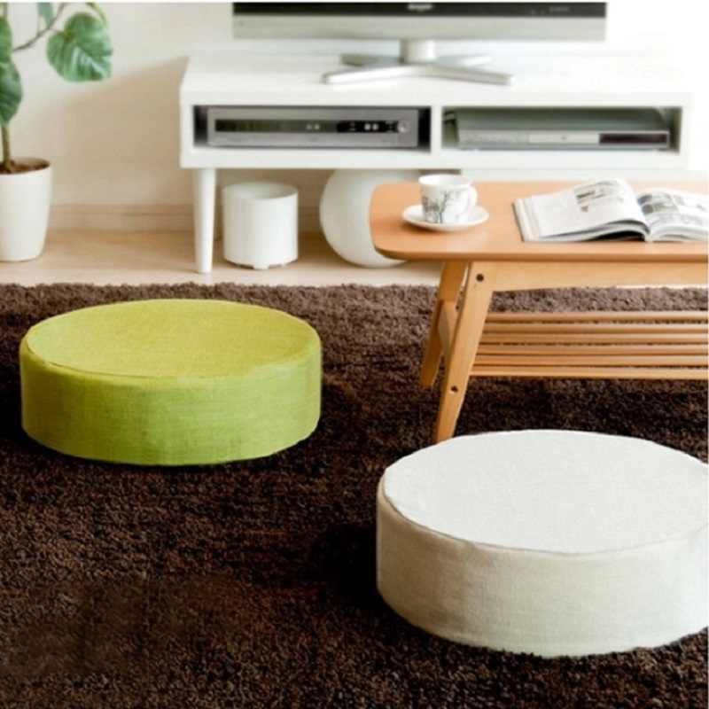 Мягкая круглая подушка на табурет стул сиденье толстая губка подушка мешок бобов чтение часы-книга ТВ удаляемый моющийся накладки на ягодицы диван