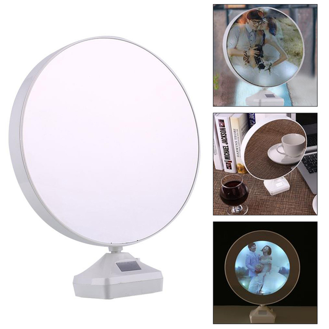 Magic Mirror Photo Frame Picture Frame LED Light Lamp USB Charger Homemade  Nice Gifts Wedding Decoration