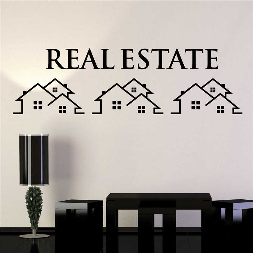 Vinyl Wall Decal Real Estate Agency