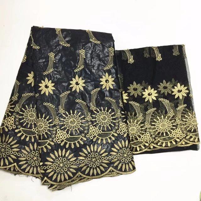 Blesing New Africano getzner Bazin riche jacquard bazin getzner bazin bordado material de tecido de algodão africano com contas pretas
