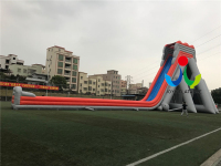 Cheap professional supplier giant inflatable water slide for adults,inflatable kids slide with long swimming pool on sales