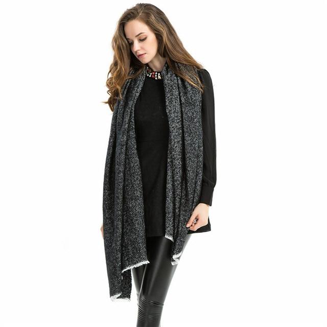 190*100cm Infinity Scarf 2016 Fashion Warm In Winter Brand Scarfs Herringbone Scarf Cashmere Tassel Shawl for Women
