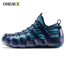 Onemix 1 shoes 3 wearing blue sport sneakers for men jogging outdoor road running shoes for walking sneakers Euro size 39-46 все цены