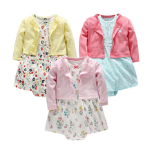 2-Pieces 2017 NewBorn Baby Girls Sets Full Sleeve O-Neck Baby Girls Suits 100% Cotton Baby Clothing Children Sets цены онлайн