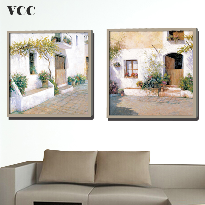 VCC Wall Art Canvas Painting Small TownWall Pictures For Living