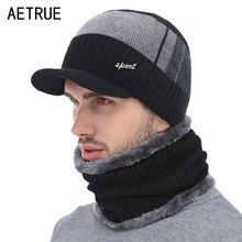 Вязаная шапка Мужская Зимняя Шапка-бини зимние шапки для мужчин шарф меховая шапка женская зимняя шляпу Beany Балаклава шапочки шапка