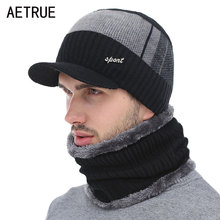 Knitted Hat Men Winter Beanie Hat Winter Hats For Men Scarf Fur Bonnet Women Skullies Beanies Gorro Beany Balaclava Beanies Cap