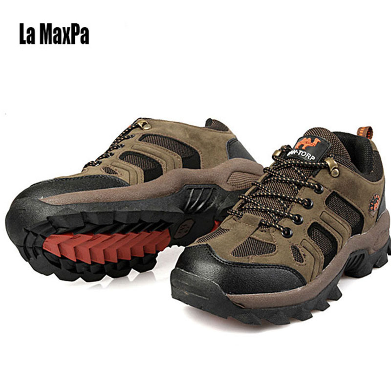 Men Sports Shoes mens shoes Sports Sneakers Men Trail Running Shoes Sport Leather Lace-up Outdoor Walking Shose 2018 Sp ing