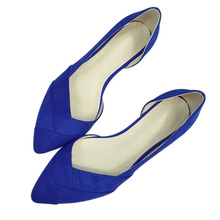 2017 spring summer women low heels shoes pointed toe  fashion womens pumps ladies  41 sweet flock t179