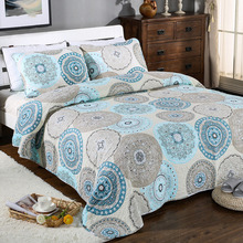 Quality Summer Quilt Set 3PCS Bed Spread Quilted bedding Wash Cotton Quilts Bedspread Bed Covers King Size Coverlet Blanket
