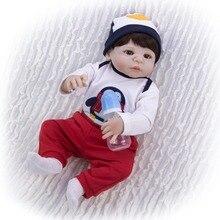 bebe doll reborn baby boy doll silicone vinyl bath toy for children girls gift 55 cm baby bonecas reborn de inteiro kids doll to все цены