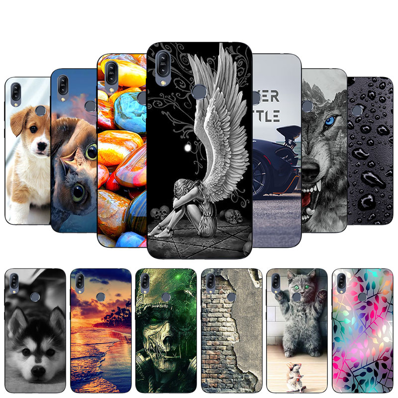 for Asus Zenfone Max M2 ZB633KL Bloom Printed Phone Case Soft TPU Silicone Back Cover for Zenfone Max M2 ZB633KL Slim Coque Bag