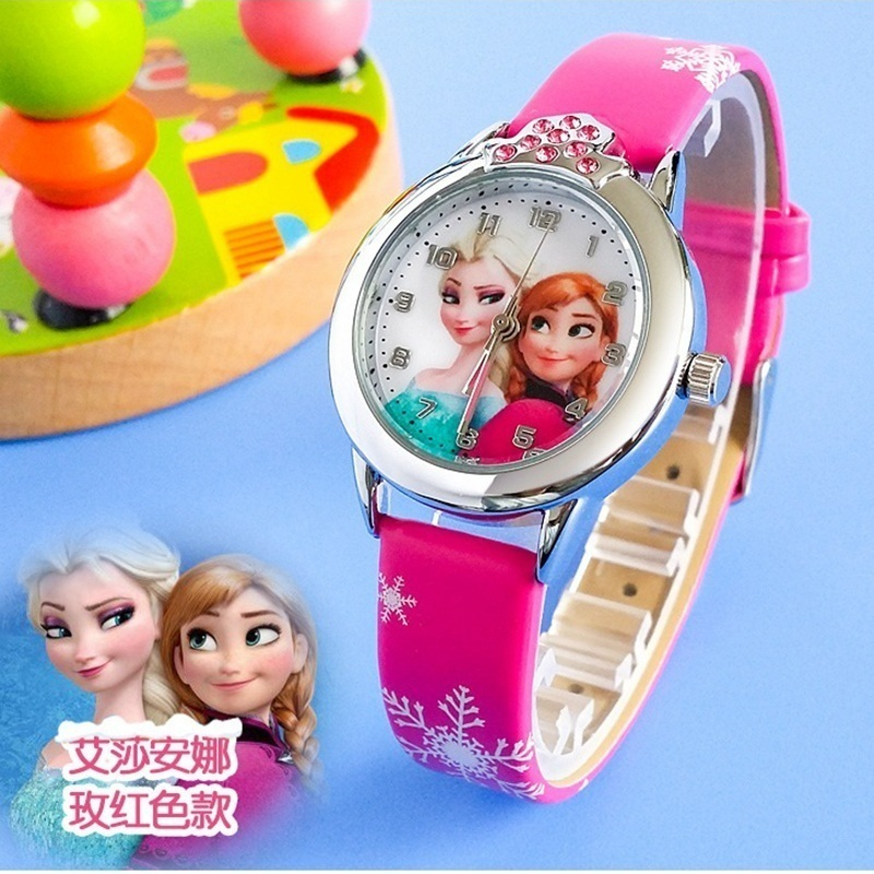 2017 Presale New Cartoon Children Watch Princess Elsa Anna Watches Fashion Girl Kids Student Cute Leather quartz Wrist Watches relogio feminino 2016 new relojes cartoon children watch princess elsa anna watches fashion kids cute leather quartz watch girl