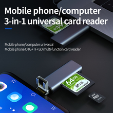 Llano 3 in 1 USB smart card reader flash multi-memory card reader for USB/SD/TF/Micro card reading Micro SD / usb card reader цена 2017