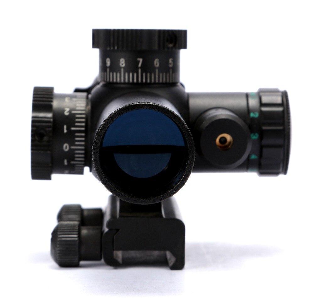 Rifle Optics 1-6x22 Air Gun RG Illumination Riflescope With Side Red Laser Sight for Hunting 20mm Mount Rail