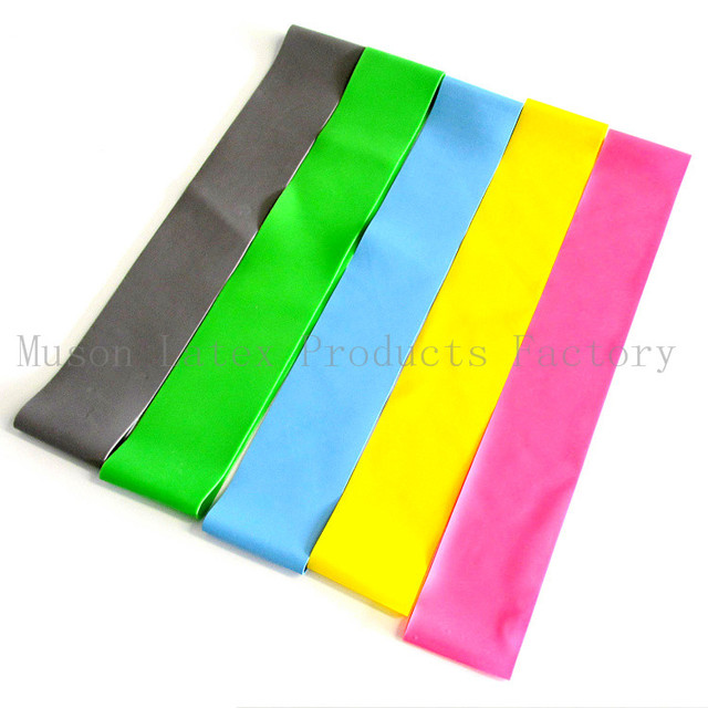 Free Shipping Latex 5PCS Resistance Band Loop Band Exercise Resistance Loop Band Sets