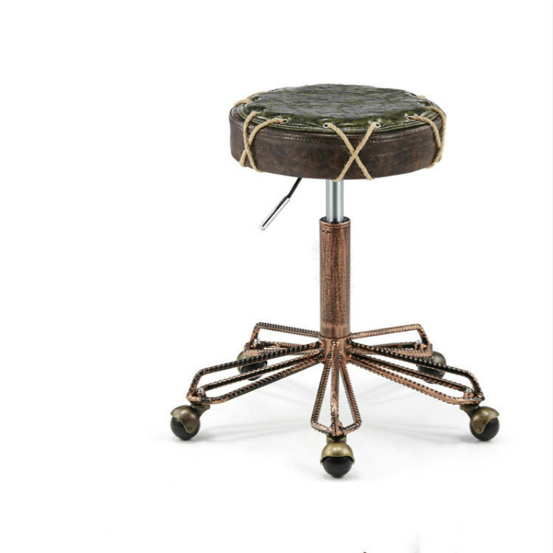 Brilliant Us 58 37 29 Off Retro Hairdressing Barber Chair Masseur Work Bench Bar Stool Beauty Stool Lifting Rotating Pulley Stool In Stools Ottomans From Evergreenethics Interior Chair Design Evergreenethicsorg