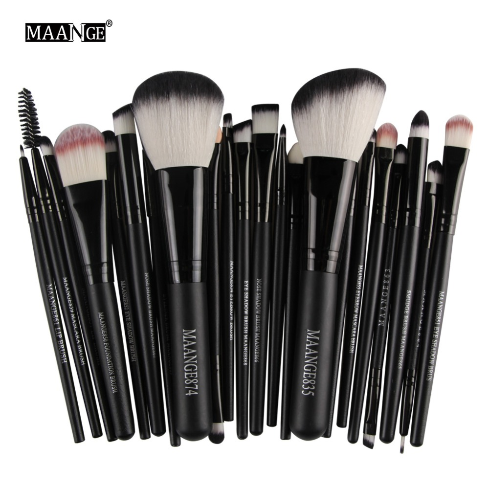 MAANGE Professional 22Pcs/set Makeup Brushes Powder Foundation Eyeshadow Eye Brush Kit Beauty Cosmetic Tools Pincel Maquiagem 10 pcs makeup brush beauty cosmetic foundation blend tools cream puff makeup brush foundation brushes pincel maquiagem