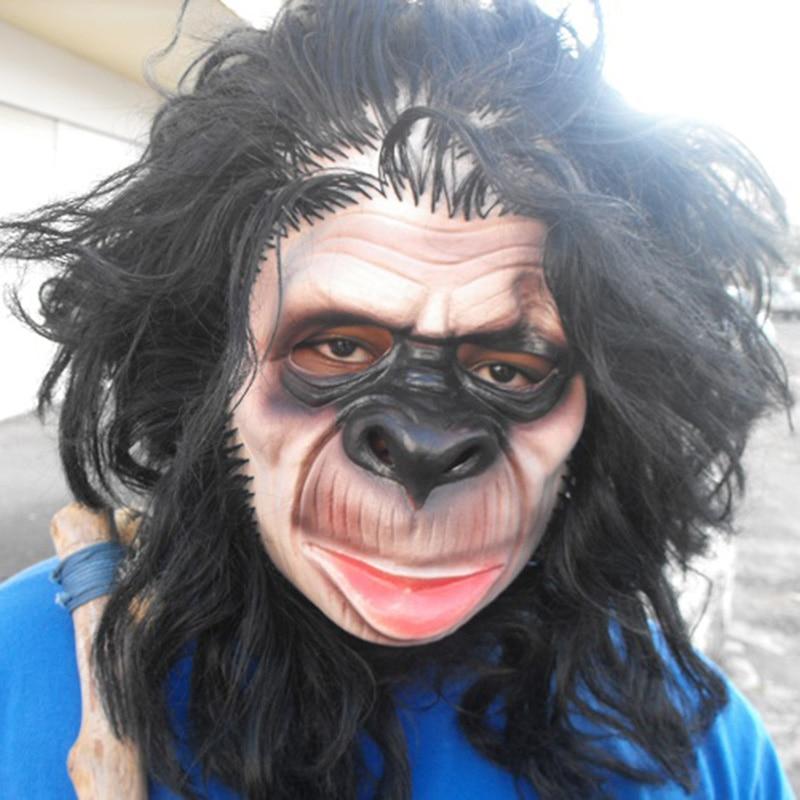 Gorilla HANDS Latex Fur Ape Monkey Fancy Dress One Size