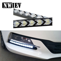 NWIEV 1Set Car LED DRL fog lamp Turn Signal with Yellow Steering For Peugeot 207 508 Mitsubishi ASX Audi A 4 Citroen C4 C5 BMW M