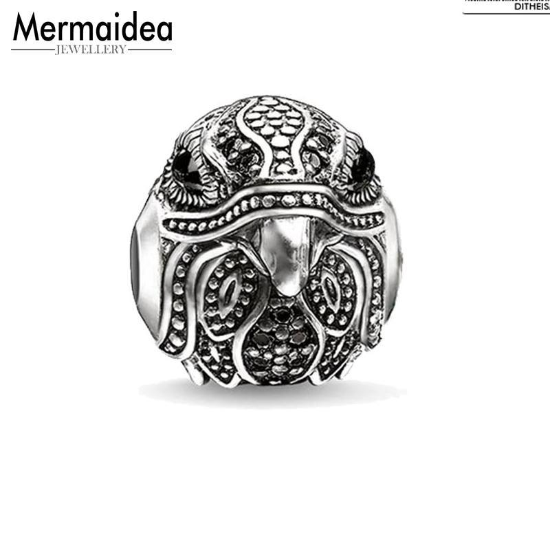 DIY Beads Eagle Falcon Charm 2019 New Fashion Silver Jewelry Trendy Gift For Women Men Boy Girl Fit Bracelets Necklace Choker