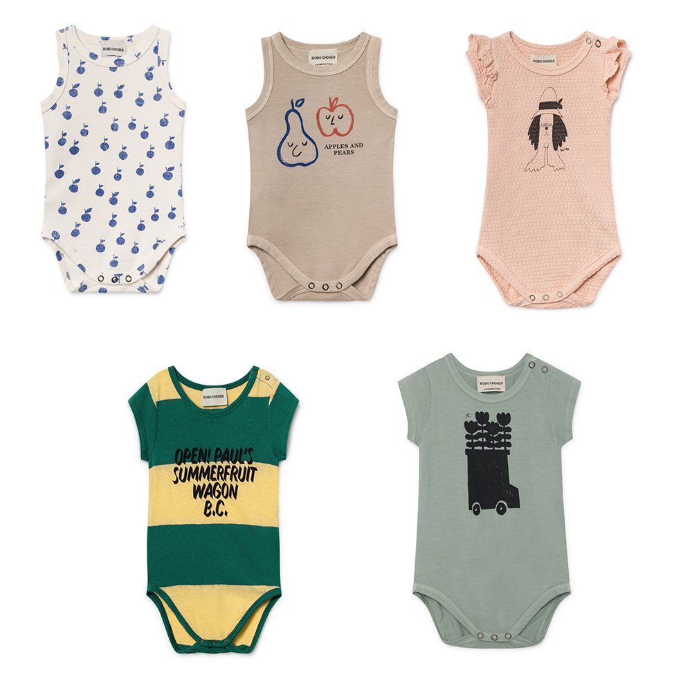 Bobo Choses 2019 Spring Summer Cotton Baby   Rompers   One Pieces Jumpsuits Newborn Baby Boys Girls Costume Toddlers Clothing 6-36M