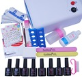 Manicure Set 36W UV Lamp Gel Polish Base and Top Nail Tools Kit Set For Nail Gel 6 Colors Gel Nail Polish Set