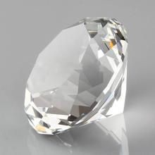 Hbl 20mm ~ 50mm 10pcs 지우기 크리스탈 다이아몬드 유리 문진 장식 유리 다이아몬드 홈 인테리어 액세서리 웨딩 선물