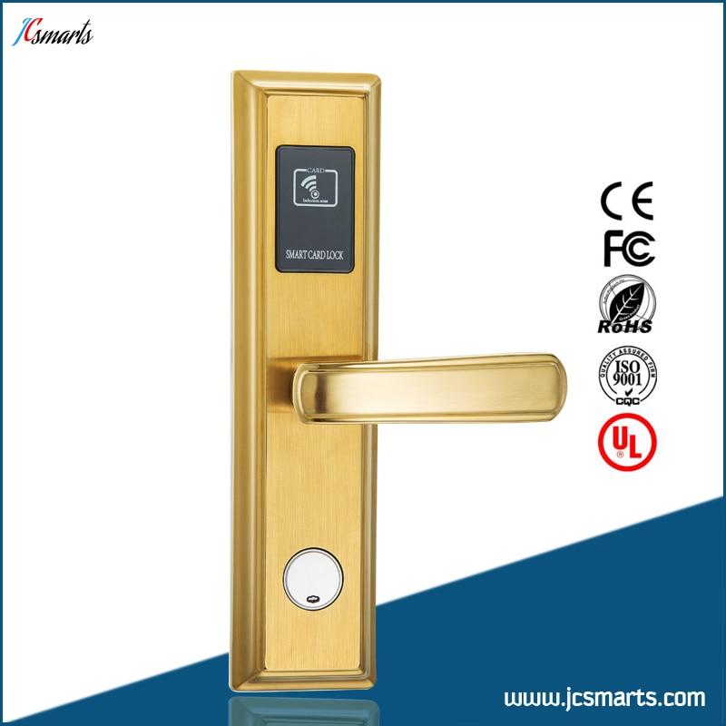 Hotel RFID keyless lock smart digital key card electronic lock stainless steel case rfid t5577 hotel lock stainless steel material gold silver color a test t5577 card sn ca 8006