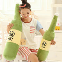 Manufacturer Of Plush Toys Wholesale And Retail Large Pillow Plush Toy Beer Bottle Hold Pillow Gifts