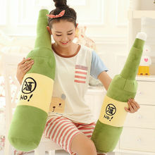Manufacturer of plush toys wholesale and retail Large pillow plush toy Beer bottle hold pillow Gifts For Birthday Children's day