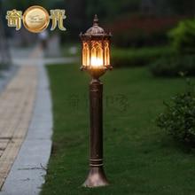 H115CM Европа бронзовый коттедж сад газон полюс лампы алюминий + стекло водонепроницаемый открытый двор полюс освещения E27 лампа 220 В/110 В