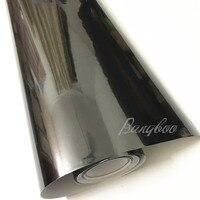 1,52*18 м хромированная зеркальная Черная Виниловая Автомобильная обертка наклейка, лист пленки самоклеющиеся с выпуском воздуха