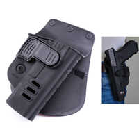 Hunting Right Hand Belt Loop Paddle CH Rapid Release System Belt Holster Fits Tactical Gun Glock 17 19 22, 23, 31, 32, 34, 35