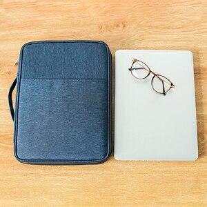 Image 2 - Panno di Oxford Multi Funzionale A4 Grande Cerniera Capacità Ufficio Portatile Impermeabile Per Notebook sacchetto di Immagazzinaggio Unisex Borsa Per Documenti
