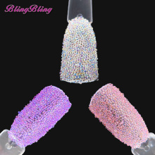 BlingBling 10ml Nail Glitter AB Crystal Glass Caviar Beads 3D Nail Art Pixie Mermaid Wedding Decoration Nail Design Microbeads