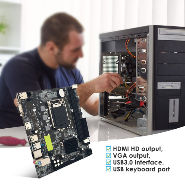 NEW for Intel H81 Desktop Computer Mainboard LGA 1150 Original USB3.0 SATA2.0 CPU Motherboard Support HDMI VGA Output