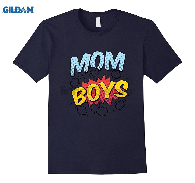 GILDAN Womens Mothers Day gift - Mom Of Boys T-shirt summer dress T-shirt
