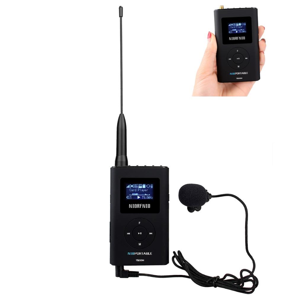 NIORFNIO 0.6W FM Transmitter MP3 Broadcast Radio Transmitter for Car Meeting Tour Guide System Y4409B